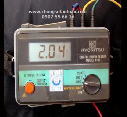 Đo điện trở đất, tiếp địa Kiểm định HT chống sét tiếp địa Cho thuê Đồng hồMáy đo điện trở đất