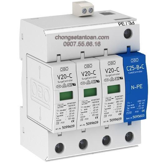 Thiết bị chống sét nguồn AC , 3 pha V10 COMPACT 150